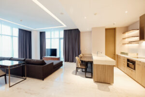 living dining area at verde two