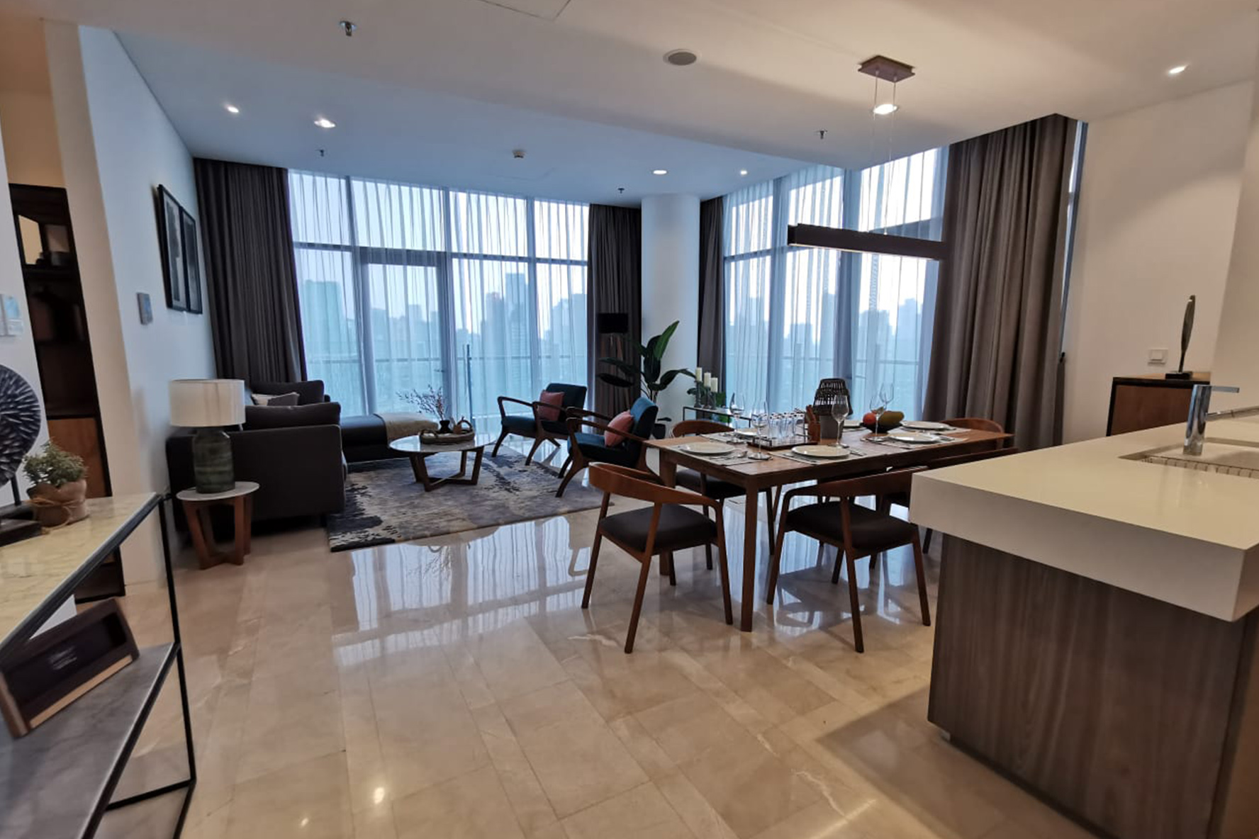 Living and dining area verde apartment