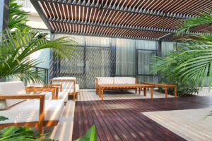 Outdoor patio at verde two
