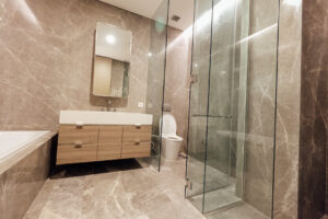 main bathroom at verde two